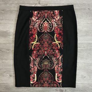 NWT Ann Taylor Colorblock Damask Pencil Skirt